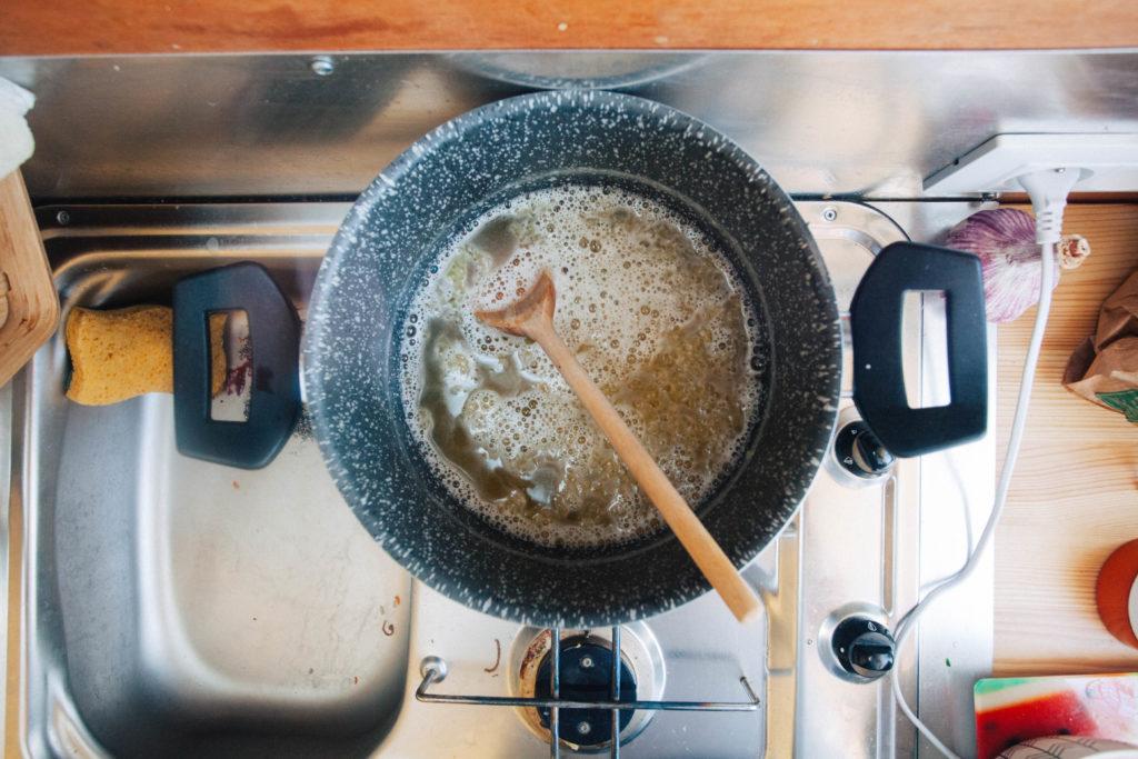 Cuisiner en van