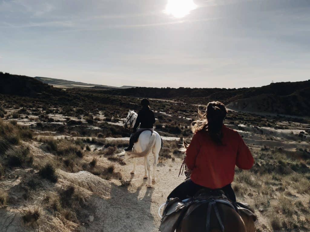 Les Bardenas à cheval