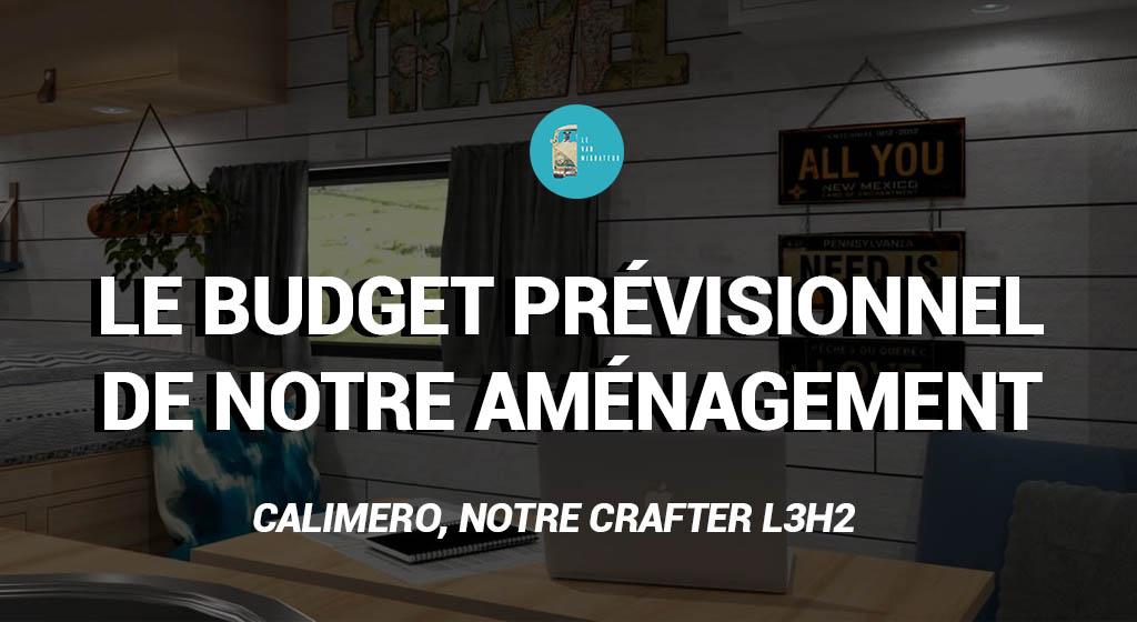 Budget aménagement fourgon