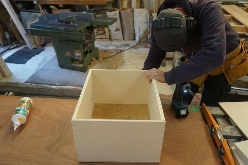 Construction tiroir meuble cuisine fourgon