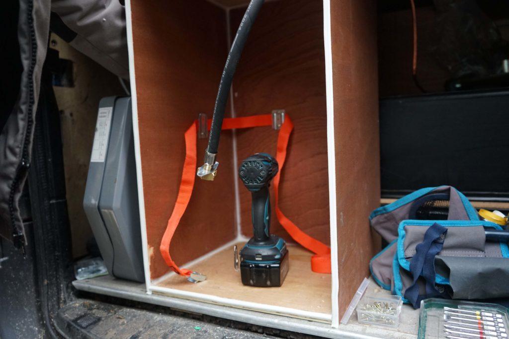 Porte caisson de gaz