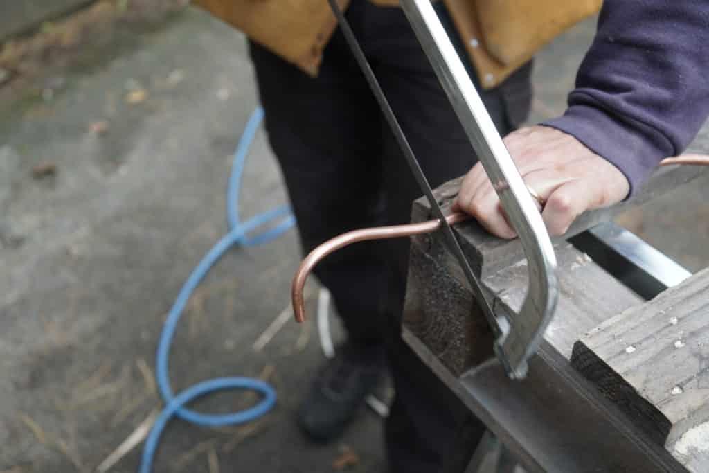 Scie à métaux cuivre